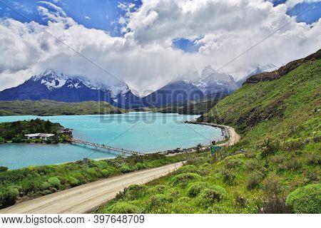 Torres Del Paine National Park, Patagonia, Chile - 18 Dec 2019: Cerro Paine Grande In Torres Del Pai