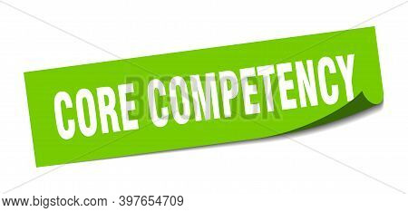 Core Competency Sticker. Core Competency Square Sign. Core Competency. Peeler