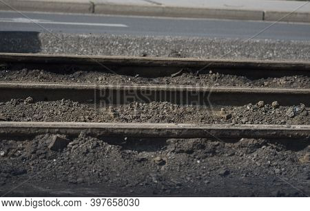 Track Construction For The Tramway Or Streetcar, Transportation And Mobility