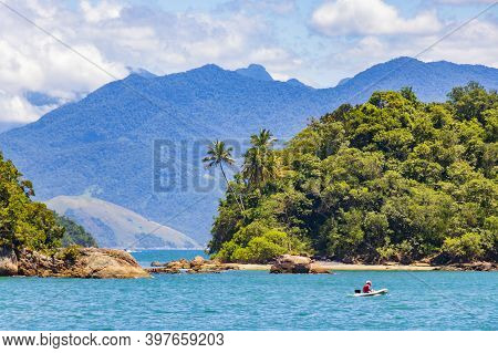 The Big Tropical Island Ilha Grande In Angra Dos Reis, Rio De Janeiro, Brazil.
