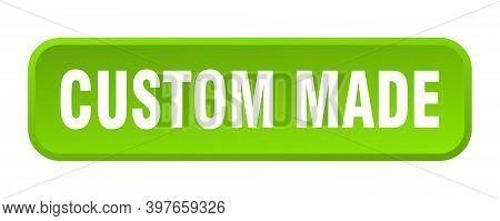 Custom Made Button. Custom Made Square 3d Push Button