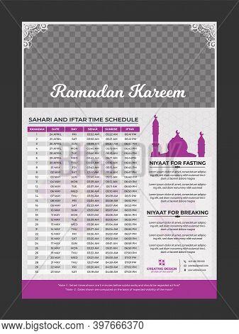Ramadan Kareem Timing 2021 Calendar, Iftar & Sheri,iftar & Sheri Calendar.arabic Calendar.