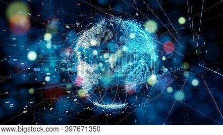 Artificial Intelligence And Machine Learning Technology Concept. Hi-tech Digital Technology And Sci-