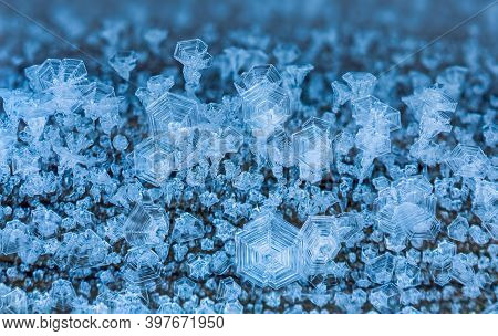 Winter Background Of Ice Crystals, Icy Background