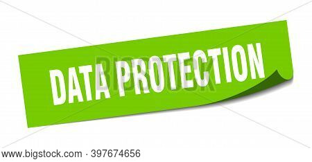 Data Protection Sticker. Square Isolated Label Sign. Peeler
