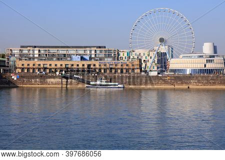 Cologne, Germany - September 21, 2020: Tourist Attractions In Cologne City, Germany. Former Harbor A
