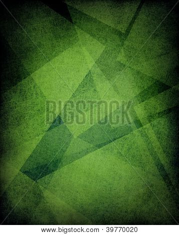 abstract green background with layers of parchment paper geometric shapes
