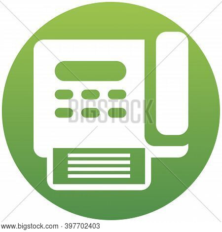 Vector Fax Machine Icon Illustration. Isolated On White Background. Simple Flat Illustration For Bus