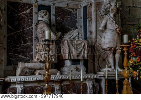Scone, Great Britain - September 11, 2014: This Is The Tomb Of David Murray, 1st Viscount Of Stormon