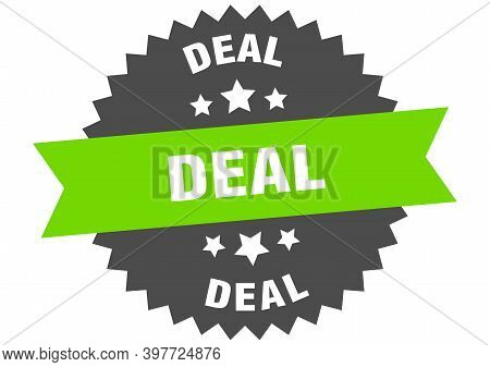 Deal Sign. Deal Circular Band Label. Round Deal Sticker