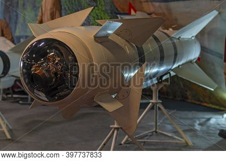 Aircraft Missile Of Class Air-ground. Long-range Combat Homing Missiles Air-to-ground, Winged Rocket