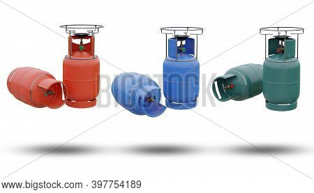 A Set Of Lpg Or Butane Gas Is Packaged In A Steel Tank In The Shape Of A Cylinder. It Is A Gas That