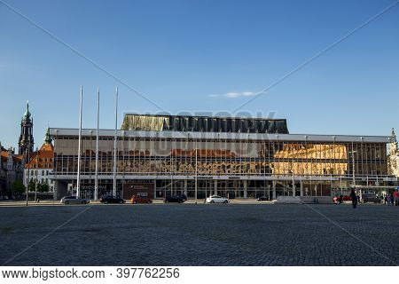 Dresden, Germany - June 05, 2013: Palace Of Culture In Dresden