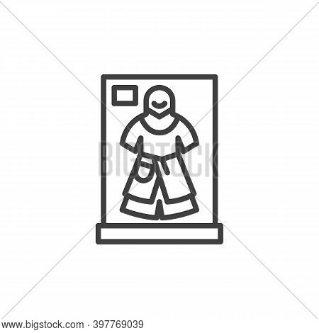 Ancient Armor Clothes Line Icon. Linear Style Sign For Mobile Concept And Web Design. Museum Armor O