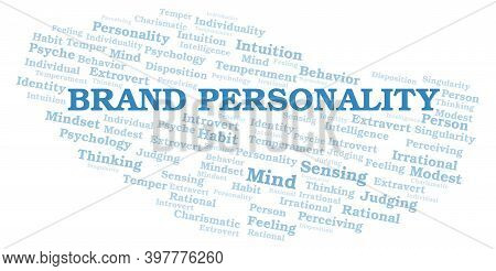 Brand Personality Typography Word Cloud Create With Text Only.