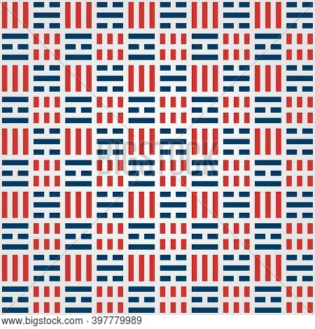 Korean Pattern Background With Korean Flag Symbol Vector Illustration Design