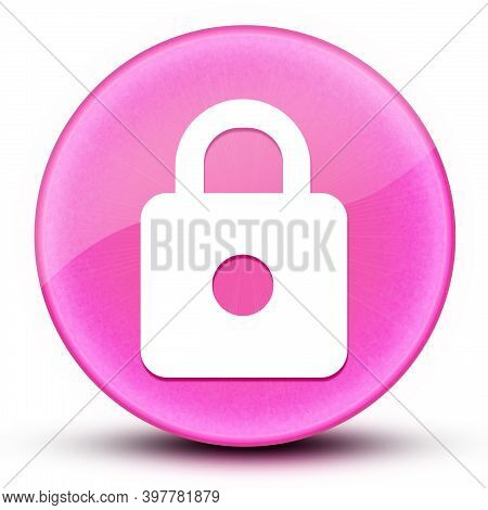 Https Eyeball Glossy Elegant Pink Round Button Abstract Illustration