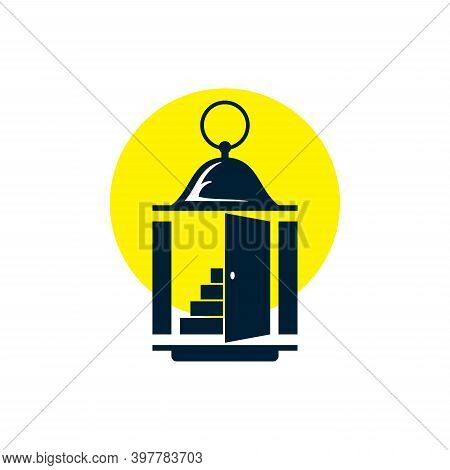 Lantern Icon With Stack Isolated On White Background From Adventure Collection. Lantern Icon Trendy