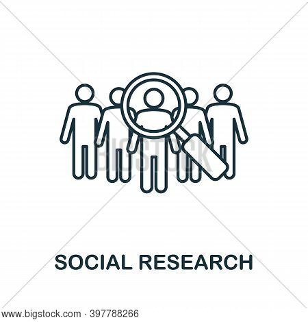 Social Research Icon. Line Style Element From Community Management Collection. Thin Social Research