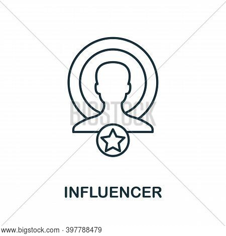 Influencer Icon. Line Style Element From Community Management Collection. Thin Influencer Icon For T