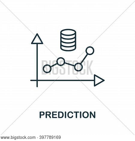 Prediction Icon. Line Style Element From Data Organization Collection. Thin Prediction Icon For Temp