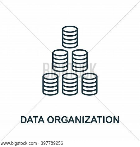 Data Organization Icon. Line Style Element From Data Organization Collection. Thin Data Organization