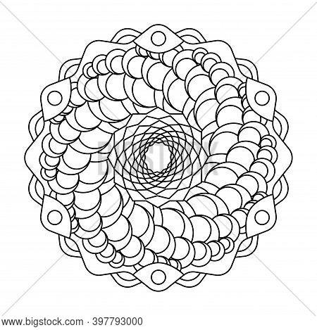 Geometric Cornucopia Star Circle Vector Mandala Coloring Book