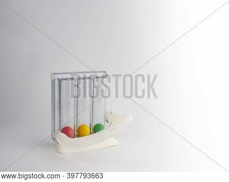 Lung Testing And Management Equipment On A White Background