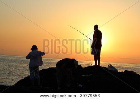 Fishermens  in Bulgaria