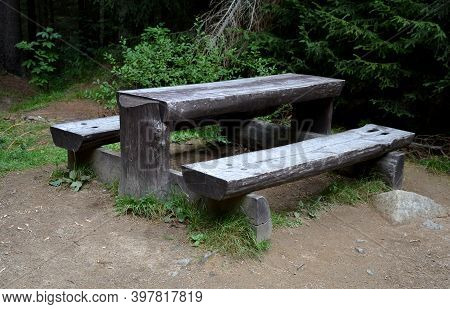 In The Mountains Where There Is Plenty Of Wood, Its Use On Bench Railings And Other Things Is A Nece