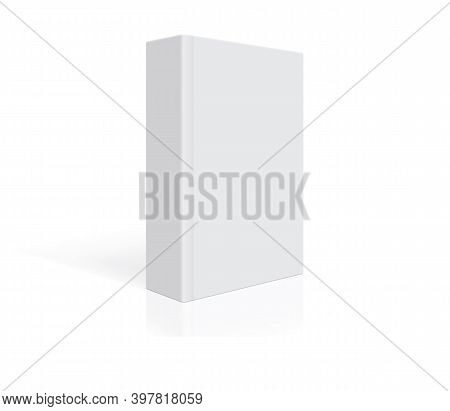 White Book With Thick Cover Isolated On White Background Mock Up Vector