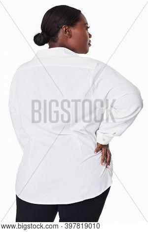 Women's white shirt plus size fashion