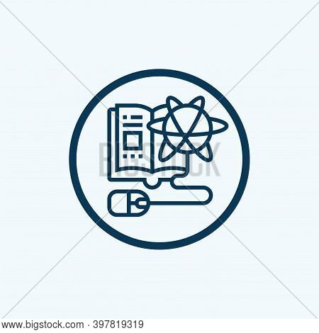 Computer Science Icon Isolated On White Background From Arts Collection. Computer Science Icon Trend