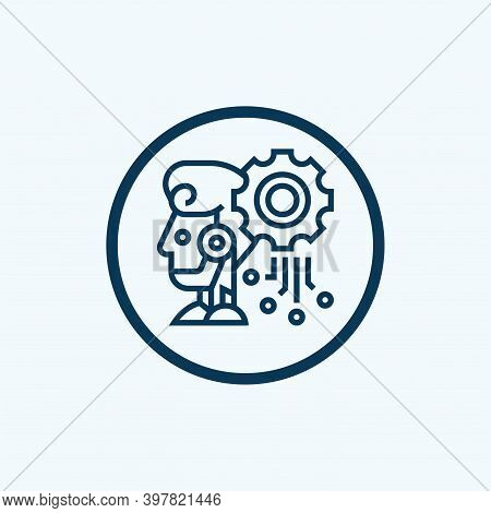 Deep Learning Icon From Artificial Intelligence Collection. Simple Line Deep Learning Icon For Templ