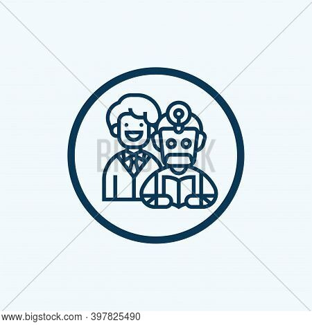 Employee Supervision Icon Vector. Employee Supervision Sign. Isolated Contour Symbol Illustration
