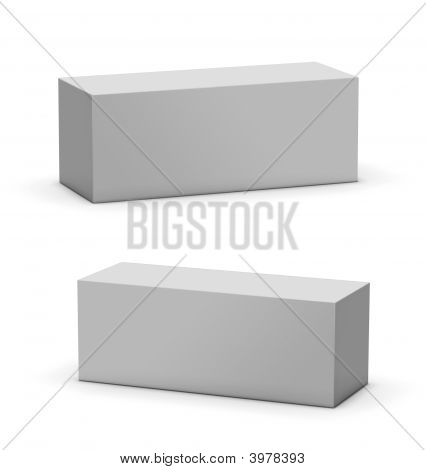 Blank Mock Up Box