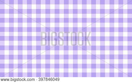 Delicate Light Lavender White Lilac Pastel Vintage Checkered Background. Space For Graphic Design. C