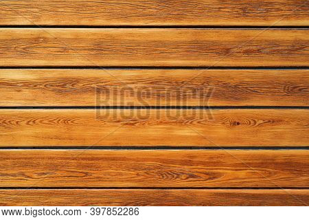 Brown Rough Wooden Planks Background, Copy Space
