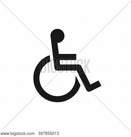Invalid Vector Icon. Disabled People Symbol Isolated. Wheelchair User Sign. Vector Eps 10