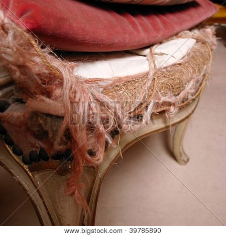 Antique Chair Seat Filling