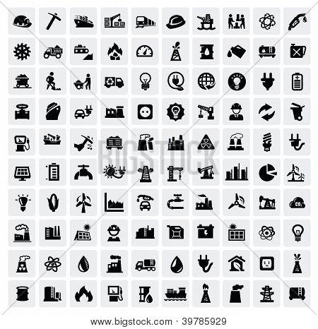 conjunto de ícones do setor