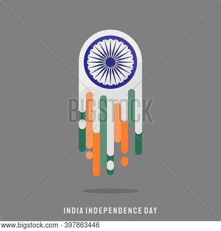 Fired Of Ashoka Chakra Wheel Vector Illustration. Good Template For India National Day Design.