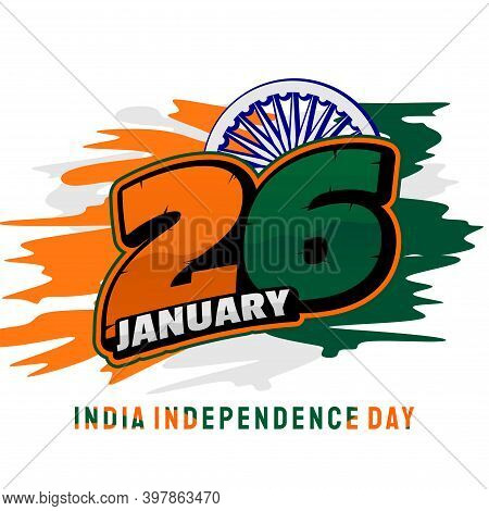 Numbering Racing Typography Of 26 Racing Concept Design For India Independence Day When Celebrate On