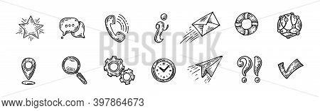 Pure Series Hand Drawn Communication , Network Icon Set