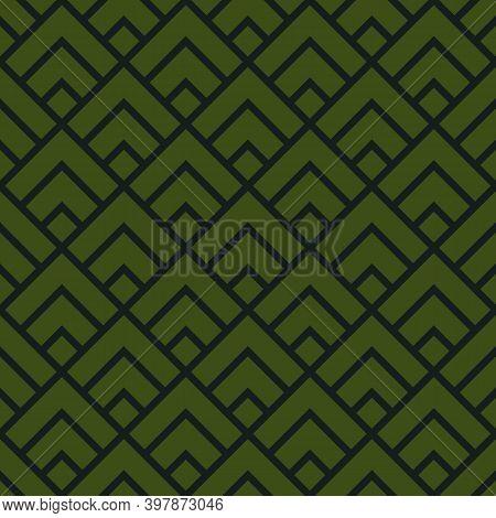 Seamless Pattern. Brackets, Diamonds Wallpaper. Chevrons, Rhombuses Ornament. Curves, Polygons Image