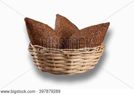Kibe Roast In Basket On A White Background
