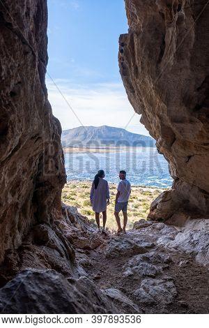 San Vito Lo Capo Sicily, San Vito Lo Capo Beach And Monte Monaco In Background, North-western Sicily
