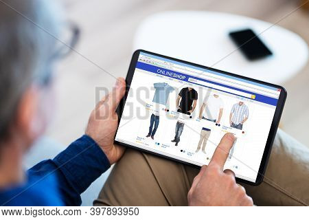 Ecommerce Internet Store Clothes Ecommerce Online On Tablet