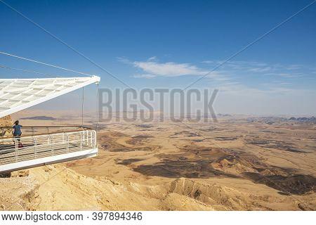 Mitzpe Ramon Visitor Center, Israel - November 13, 2020: Mitzpe Ramon Visitor Center, Ramon Crater,