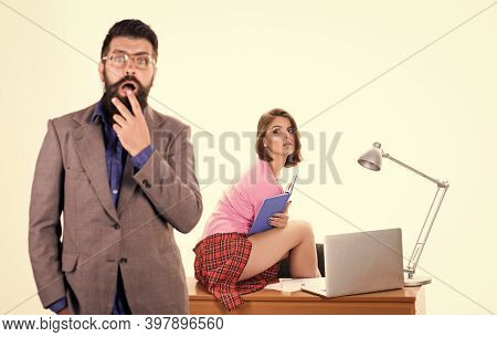 Office Manager Or Secretary. Sexy Lady Office Worker. Sexy Personal Secretary. Full Of Desire. Havin